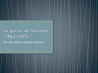 La guerre de Vietnam (1963-1975)
