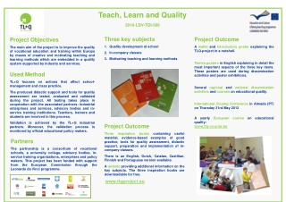 Teach, Learn and Quality 2010-LDV-TOI-506
