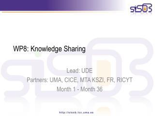 WP8: Knowledge Sharing