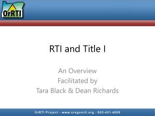 RTI and Title I