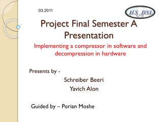 Project Final Semester A Presentation