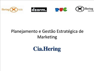 Planejamento e Gest o Estrat gica de Marketing