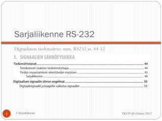 Sarjaliikenne RS-232