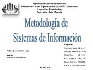 República Bolivariana de Venezuela Ministerio del Poder Popular para la Educación Universitaria