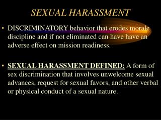 SEXUAL HARASSMENT AND FRATERIZATION