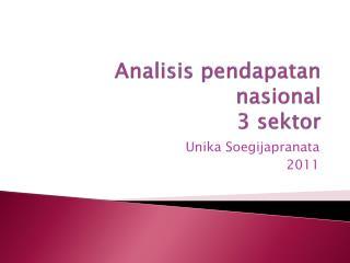 Analisis pendapatan nasional  3 sektor
