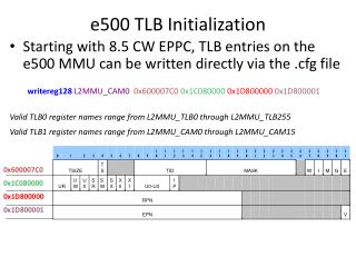e500 TLB Initialization