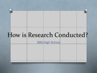 How is Research Conducted?