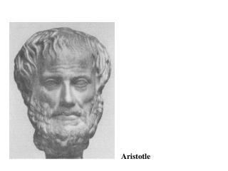 Aristoteles c:a 350 fKr