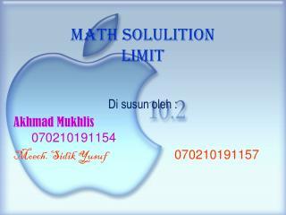 Math solulition  Limit