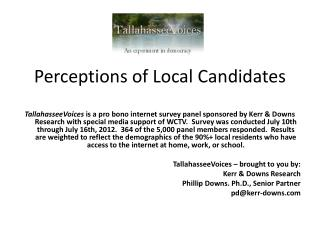 Perceptions of Local Candidates