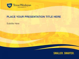 PLACE YOUR PRESENTATION TITLE HERE