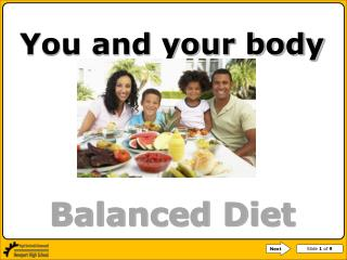 You and your body  Balanced Diet Episodes 1 and 2