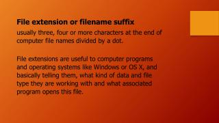 File extension or filename suffix