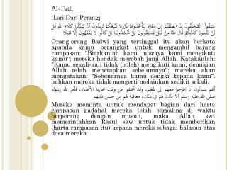 Al- Fath ( Lari  Dari  Perang )