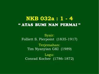 NKB 032a  : 1 -  4