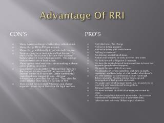Advantage Of RRI