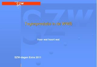 Tegenprestatie in de WWB