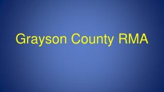 Grayson County RMA