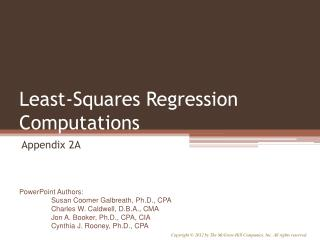 Least-Squares Regression Computations