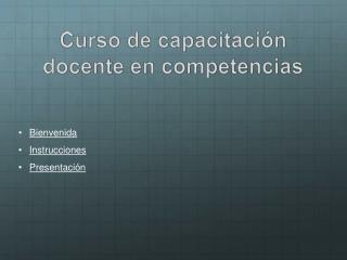 Curso de capacitación docente en competencias