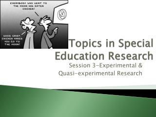 Topics in Special Education Research