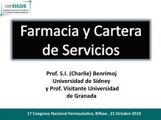 Farmacia y Cartera de Servicios