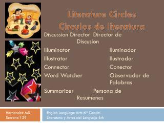 Literature Circles Circulos  de  literatura