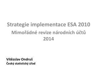 Vítězslav Ondruš Český statistický úřad