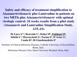 Safety and efficacy of treatment simplification to Atazanavir