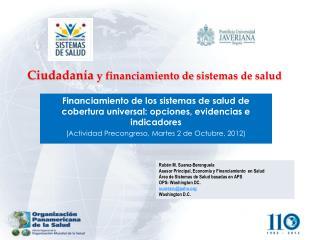 Ciudadanía  y financiamiento de  sistemas  de  salud