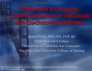 Challenges  Struggles: Lived Experiences of Individuals with Co-Occurring Disorders