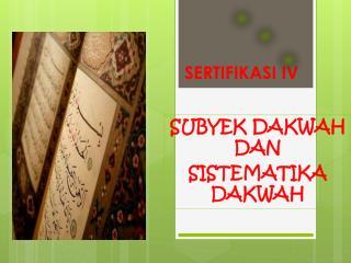 SERTIFIKASI IV