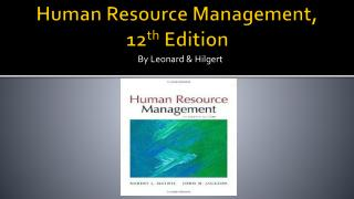Human Resource Management,  12 th  Edition