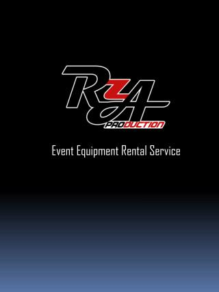 Event Equipment Rental Service