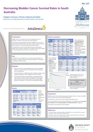 Decreasing Bladder Cancer Survival Rates in South Australia