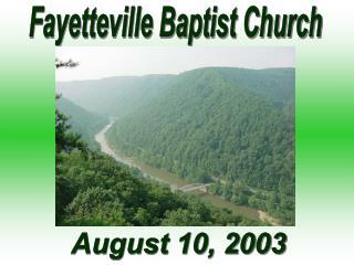 Fayetteville Baptist Church