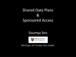 Shared Data Plans &  Sponsored  Access