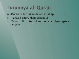 Turunnya  al-Quran