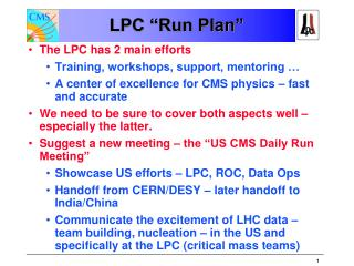 "LPC ""Run  Plan """