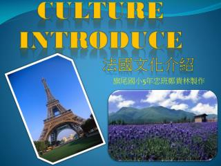 Culture IntRoduce 法國文化介紹