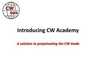 Introducing CW Academy
