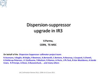 Dispersion-suppressor  upgrade in IR3
