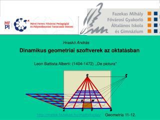 Dinamikus geometriai szoftverek az oktat sban