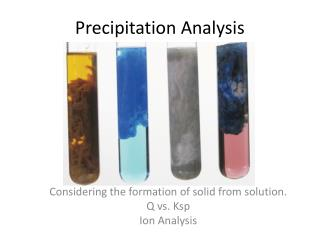 Precipitation Analysis
