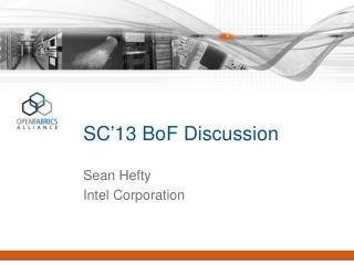 SC�13  BoF  Discussion