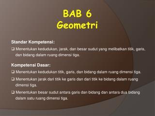 BAB 6 Geometri