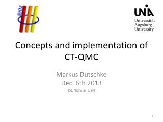 Concepts and implementation of CT-QMC
