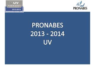 PRONABES 2013 - 2014 UV