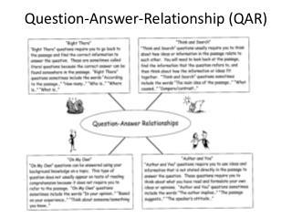 Question-Answer-Relationship (QAR)